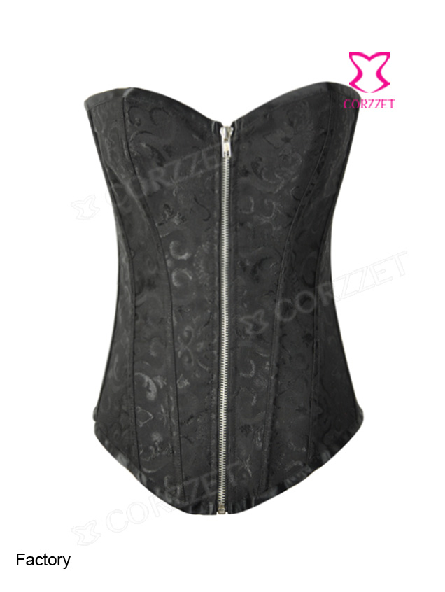 2340# Victorian Jacquard Tapestry Overbust Zipper  Corset
