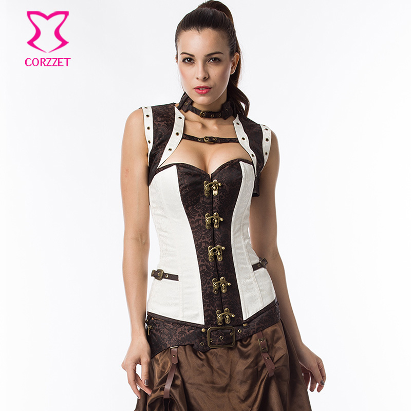 2216# Vintage Plus Size Waist Training Corsets and Bustiers Women Steampunk Corset